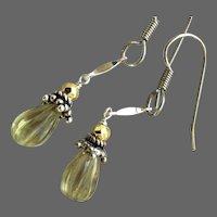 Lemon Drop Earrings Silver everyday earrings Gem Bliss