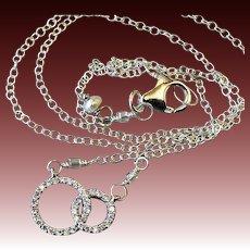 Double happiness Silver necklace Pave CZ Camp Sundance Gem Bliss