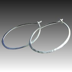 Silver hoops, Classic Silver hoop earrings, self closing hoops, Camp Sundance earrings