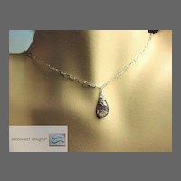 Amethyst Solitaire, Silver necklace, Moss Amethyst, Camp Sundance, Gem Bliss.