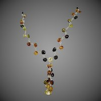 Petro Tourmaline Necklace, 14K,18K, cascade necklace, Vermeil, Gold filled, Camp Sundance, Gem Bliss