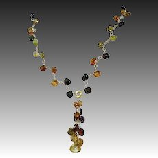 Petro Tourmaline Necklace, 14K,18K, cascade necklace, Vermeil, Gold filled, Camp Sundance, Gem Bliss