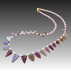 Tourmaline necklace, 14K Gold, Pink necklace, Topaz necklace, Camp Sundance, Gem Bliss