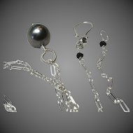 Tahitian Pearl Sterling Silver Solitaire necklace Camp Sundance Gem Bliss