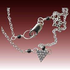 Pave triangle Silver necklace layering necklace minimalist necklace Camp Sundance Gem Bliss
