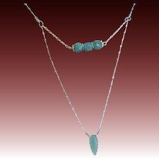 Amazonite layering necklace Silver Amazonite necklace Camp Sundance Gem Bliss
