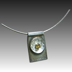 Silver Topaz necklace Omega Chain Gem Bliss