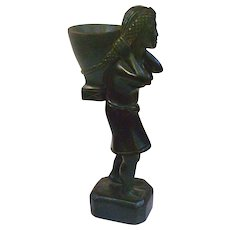 A Wonderful Old Indonesian Ebonized Carved Wood Statue