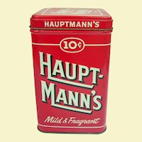 Vintage Ten Cent Cigar Tin Hauptmann's