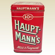 Vintage Ten Cent Cigar Tin Hauptmann's