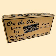A Rare Mounds Candy Bar And Charcoal Gum Advertising Box
