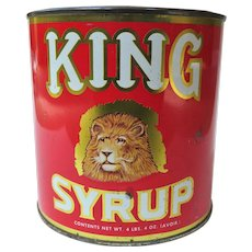 A Colorful King Syrup Advertising Can 1960s