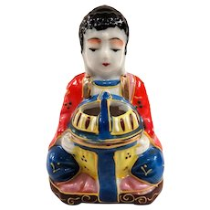 Made in Japan Buddha Single Piece Moriage Ceramic Incense Burner or Koro