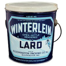 Interesting Winterlein Lard Pail Circa 1950