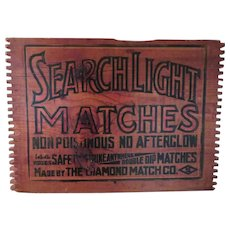 Rustic Wooden Safety Match Sign