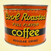 Vintage Cool Roasted Key Wind Coffee Advertising Can