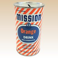 Mission Orange Drink Advertising Can Bank