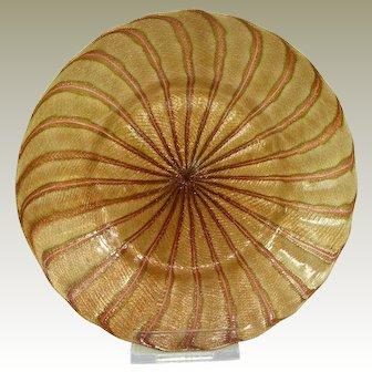 A Spectacular Victorian Aventurine Glass Side Plate