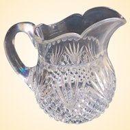 A Large Old Crystal Creamer Circa 1915