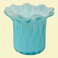 Vintage Murano Blue Satin Glass Toothpick