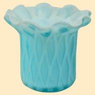 Vintage Murano Blue Satin Glass Toothpick