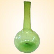 Outstanding Early American Glass Free Blown Onion Bottle, Circa 1850 or Earlier