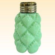 An Antique Green Milk Glass Sugar Shaker