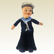 Norah Wellings Jollyboy Sailor Doll From The RMS Queen Elizabeth