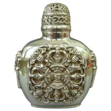 A Magnificent Rare Antique Chinese Sterling Silver Snuff Bottle