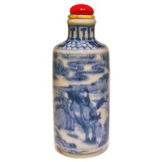 A Good Underglaze Blue Antique Chinese Snuff Bottle