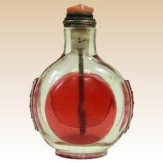 An Interesting Antique Peking Overlay Chinese Snuff Bottle
