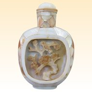 An Excellent Antique Mother Of Pearl Chinese Snuff Bottle