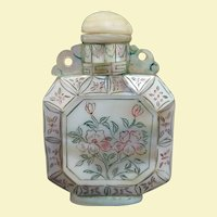 Antique Chinese Mother of Pearl Scent Bottle