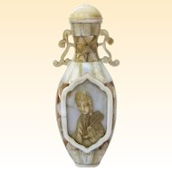 An Amazing Antique Mother of Pearl Chinese Snuff Bottle