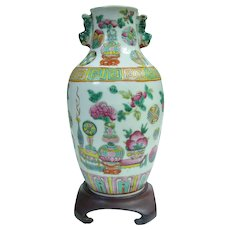 An Antique Daoguang Chinese Famille Rose Vase