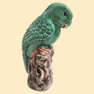 An Unusual Antique Chinese Porcelain Parrot Figure Qing Dynasty