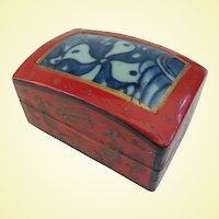 A Striking Little Antique Chinese Shard Box