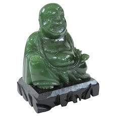 An Excellent Little Antique Jade Buddha