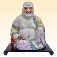 A Fine Antique Chinese Buddha On Stand