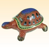 An Unusual Vintage Chinese Cloisonné Turtle Box