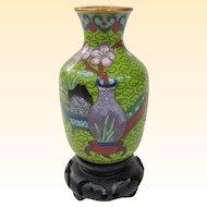 A Neat Vintage Miniature Chinese Cloisonne Vase