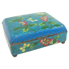 A Colorful Old Cloisonné Chinese Box Circa 1900