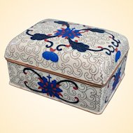 An Excellent Vintage Chinese Cloisonne Trinket or Cigarette Box