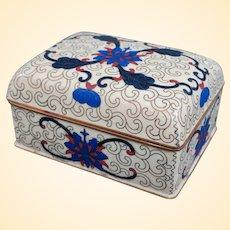 An Excellent Vintage Chinese Cloisonne Trinket or Cigarette Box