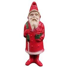 Large Rare Three Color Irwin Celluloid Santa Claus
