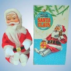 Wonderful Nodding Head Santa Doll Original Box 1960s Japan Works!