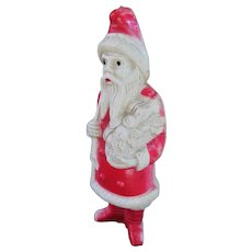 Forlorn Old Celluloid Santa Claus With A Sack Of Sticks!