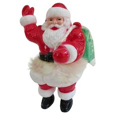 Super Rare Irwin Hard Plastic Santa With Toy Filled Sack 1950s