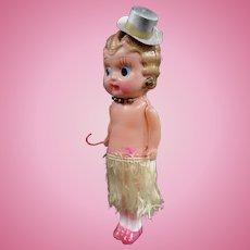 Celluloid Flapper Kewpie Doll Circa 1920s