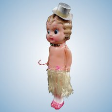 Celluloid Flapper Kewpie Doll Circa 1920s